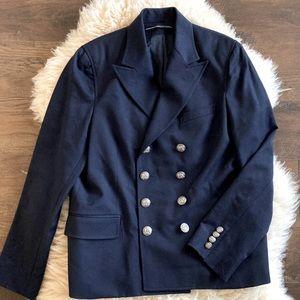 RL Sport Navy Double Breasted Nautical Blazer Coat